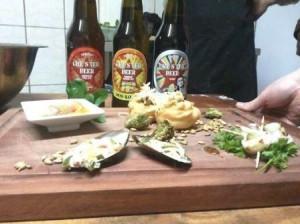 Comenzando degustación maridaje Chester Beer y productos del mar Bravo Cabrera