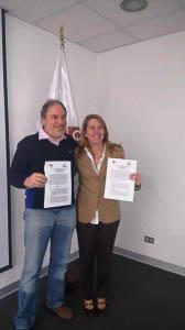Elena Conterno Martinelli (Presidenta del Consejo Directivo de la SNP) y Ernesto Godelman (Presidente de CeDePesca)