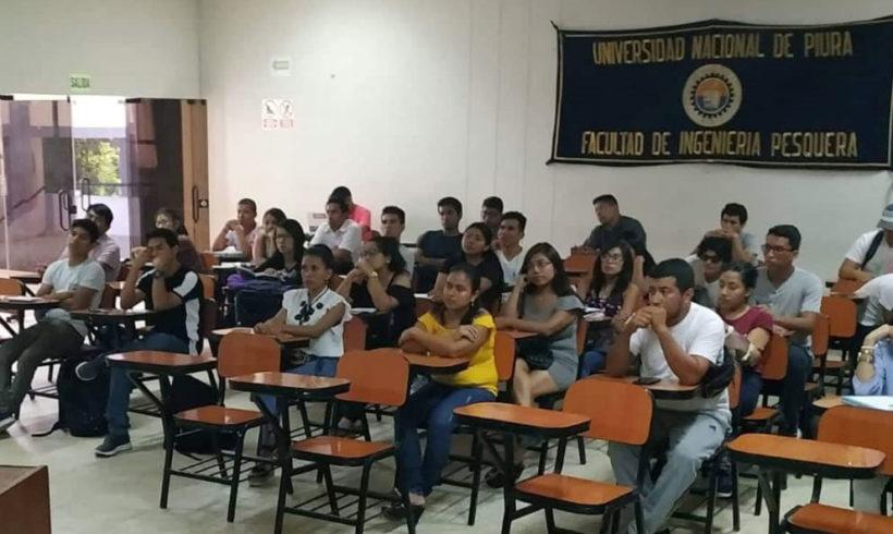 Capacitamos a alumnos de Ingeniería Pesquera de la Universidad Nacional de Piura